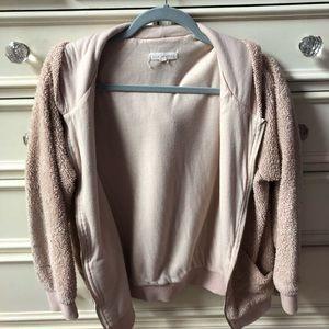 LA HEARTS pink zip up sweatshirt